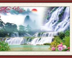 Mẫu tranh dán tường phong cảnh mã: 09