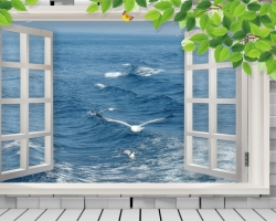 Mẫu tranh dán tường cửa sổ mã: 10