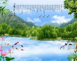 Mẫu tranh dán tường phong cảnh mã: 12