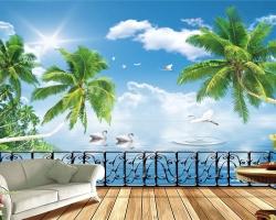 Mẫu tranh dán tường phong cảnh mã: 13
