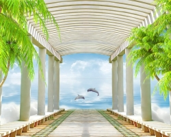 Mẫu tranh dán tường phong cảnh mã: 16