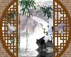 Mẫu tranh dán tường cửa sổ mã: 26
