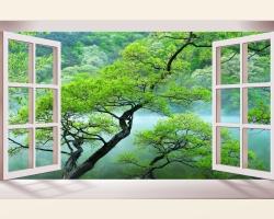 Mẫu tranh dán tường cửa sổ mã: 31