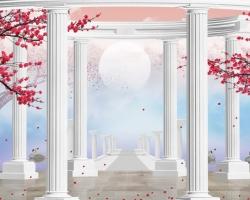 Mẫu tranh dán tường cửa sổ mã: 45