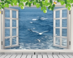 Mẫu tranh dán tường cửa sổ mã: 50