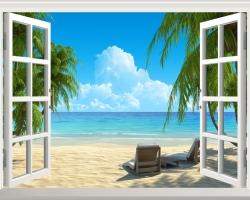 Mẫu tranh dán tường cửa sổ mã: 55