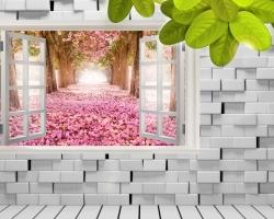 Mẫu tranh dán tường cửa sổ mã: 59
