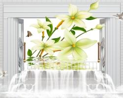 Mẫu tranh dán tường cửa sổ mã: 60