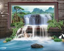 Mẫu tranh dán tường cửa sổ mã: 73