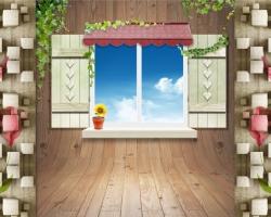 Mẫu tranh dán tường cửa sổ mã: 87