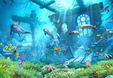 Mẫu tranh dán tường cảnh biển mã:01