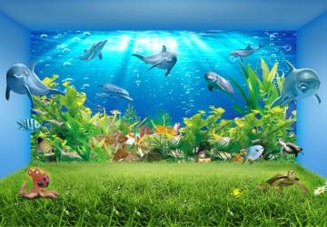 Mẫu tranh dán tường cảnh biển mã:02