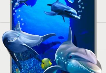 Mẫu tranh dán tường cảnh biển mã:22