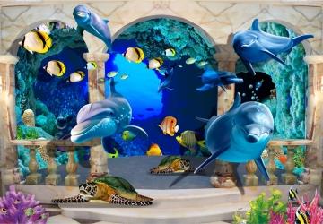 Mẫu tranh dán tường cảnh biển mã:23