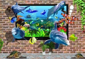 Mẫu tranh dán tường cảnh biển mã:39