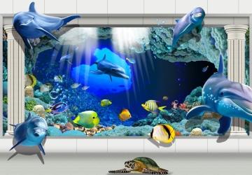 Mẫu tranh dán tường cảnh biển mã:48