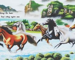Mẫu tranh ngựa mã đáo thành công mã: 02