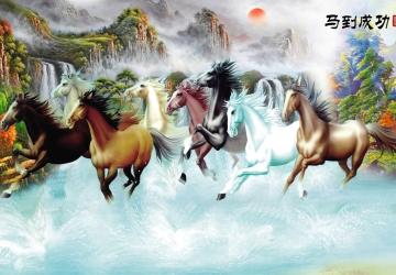 Mẫu tranh ngựa mã đáo thành công mã: 06