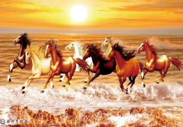 Mẫu tranh ngựa mã đáo thành công mã: 08