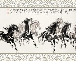 Mẫu tranh ngựa mã đáo thành công mã: 10