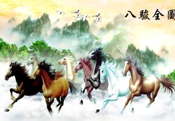 Mẫu tranh ngựa mã đáo thành công mã: 113