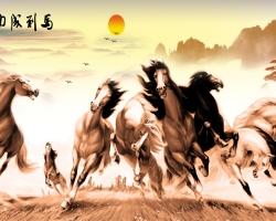 Mẫu tranh ngựa mã đáo thành công mã: 12