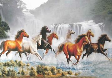 Mẫu tranh ngựa mã đáo thành công mã: 14