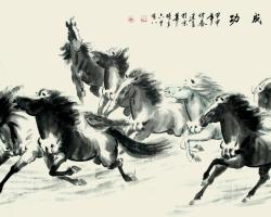 Mẫu tranh ngựa mã đáo thành công mã: 18