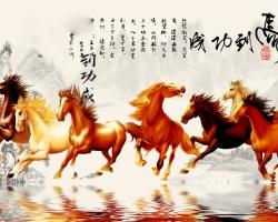 Mẫu tranh ngựa mã đáo thành công mã: 19