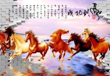 Mẫu tranh ngựa mã đáo thành công mã: 20