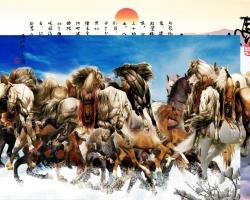 Mẫu tranh ngựa mã đáo thành công mã: 22