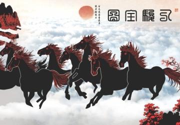 Mẫu tranh ngựa mã đáo thành công mã: 23