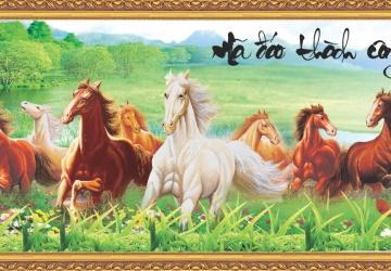 Mẫu tranh ngựa mã đáo thành công mã: 25