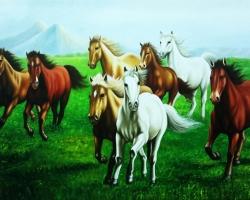 Mẫu tranh ngựa mã đáo thành công mã: 27