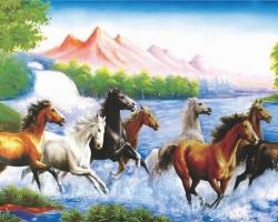 Mẫu tranh ngựa mã đáo thành công mã: 28