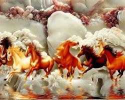 Mẫu tranh ngựa mã đáo thành công mã: 30