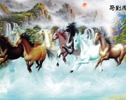 Mẫu tranh ngựa mã đáo thành công mã: 31