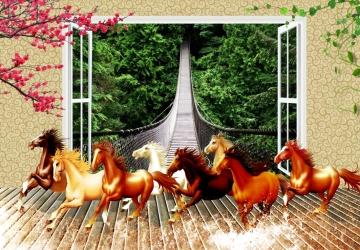 Mẫu tranh ngựa mã đáo thành công mã: 32