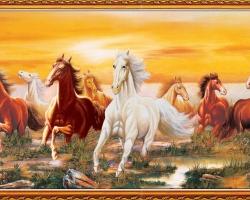 Mẫu tranh ngựa mã đáo thành công mã: 33