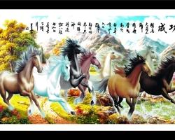 Mẫu tranh ngựa mã đáo thành công mã: 35
