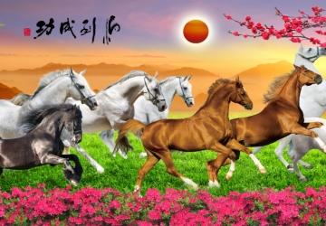 Mẫu tranh ngựa mã đáo thành công mã: 36