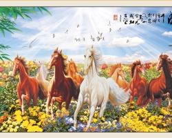 Mẫu tranh ngựa mã đáo thành công mã: 37