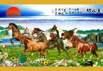 Mẫu tranh ngựa mã đáo thành công mã: 38