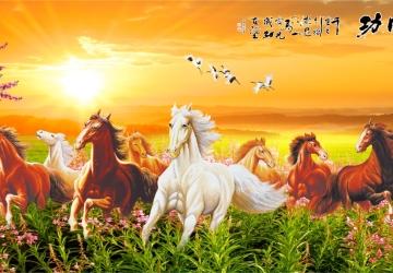 Mẫu tranh ngựa mã đáo thành công mã: 42