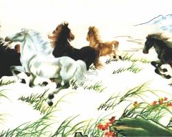 Mẫu tranh ngựa mã đáo thành công mã: 43