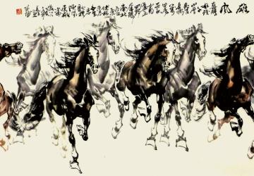 Mẫu tranh ngựa mã đáo thành công mã: 44