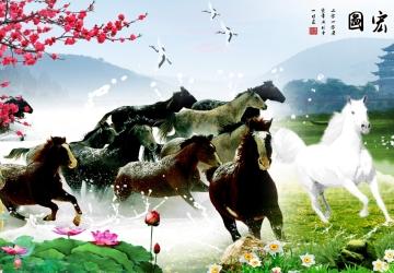 Mẫu tranh ngựa mã đáo thành công mã: 47