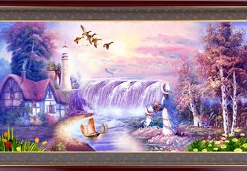 Mẫu tranh sơn dầu làng quê Châu Âu: 001TCA