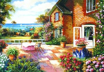 Mẫu tranh sơn dầu làng quê Châu Âu: 004TCA