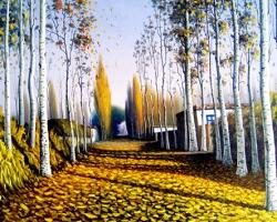 Mẫu tranh sơn dầu làng quê Châu Âu: 008TCA